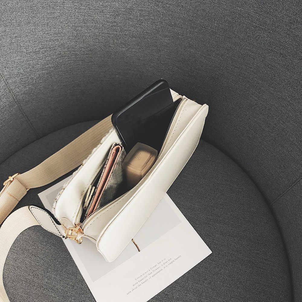 Женская сумка через плечо Женская шерстяная клетчатая маленькая квадратная сумка с широким плечевым ремнем дикая сумка-мессенджер