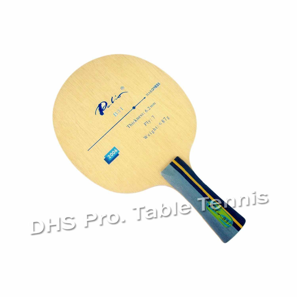 Original Palio B31 (B 31, B-31) 7 Ply Table Tennis Blade Calssics Blade Fast Attack With Loop Table Tennis Rackets Racquet Sport