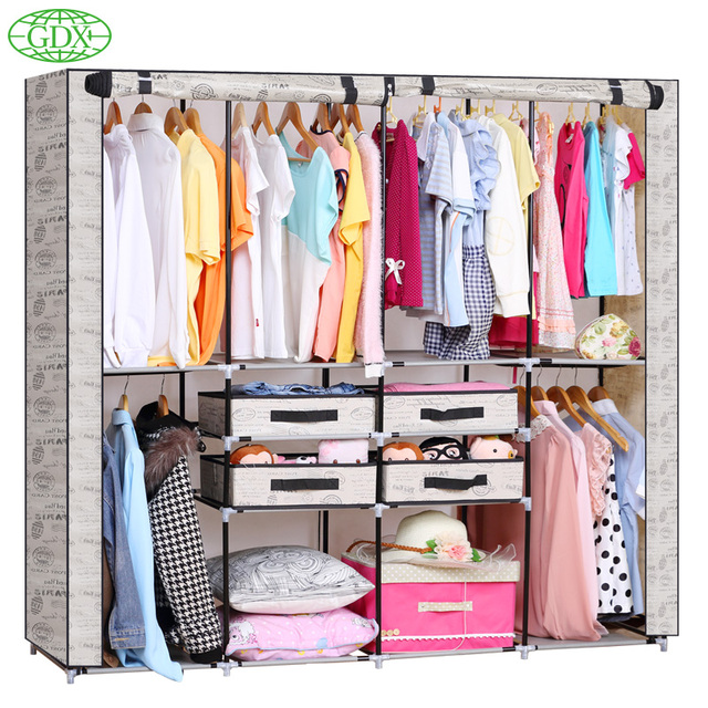 GDX Multi-functional Strong Steel Tube Coat Closet Storage Holder Organizers Non-Woven Wardrobe  sc 1 st  AliExpress.com & GDX Multi functional Strong Steel Tube Coat Closet Storage Holder ...
