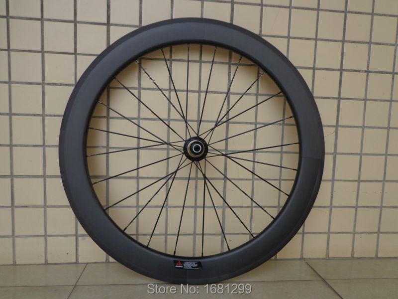 1 paire Nouvelle 700C 60mm enclume jantes de bicyclette de Route mat UD pleine fiber de carbone vélo essieux 20.5/23/25mm largeur aero spoke Livraison le bateau