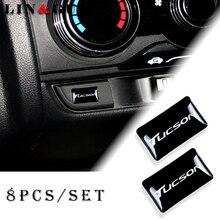 8pcs רכב סטיילינג הגה 3D קטן סמל מדבקת גלגל מדבקות Fit עבור יונדאי טוסון ix35 מריבת Zafira רכב מדבקה