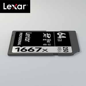 Image 4 - Original Lexar 1667x up to 250MB/s Flash Memory sd card 64GB 128GB V60 UHS II U3 Card high speed 256GB SDXC For 3D 4K HD video
