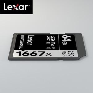 Image 4 - Originele Lexar 1667x tot 250 MB/s Flash Memory sd kaart 64GB 128GB V60 UHS II U3 Kaart hoge speed 256GB SDXC Voor 3D 4K HD video