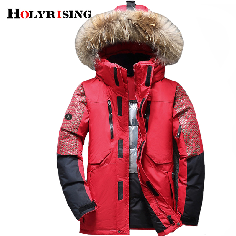 Holyrising Winter Male Duck Down Jacket Thick Men Fashion Hooded Down Coat  Patchwork Windproof Waterproof Ski clothing 1845 5-in Down Jackets from  Men s ... 54d7d9887