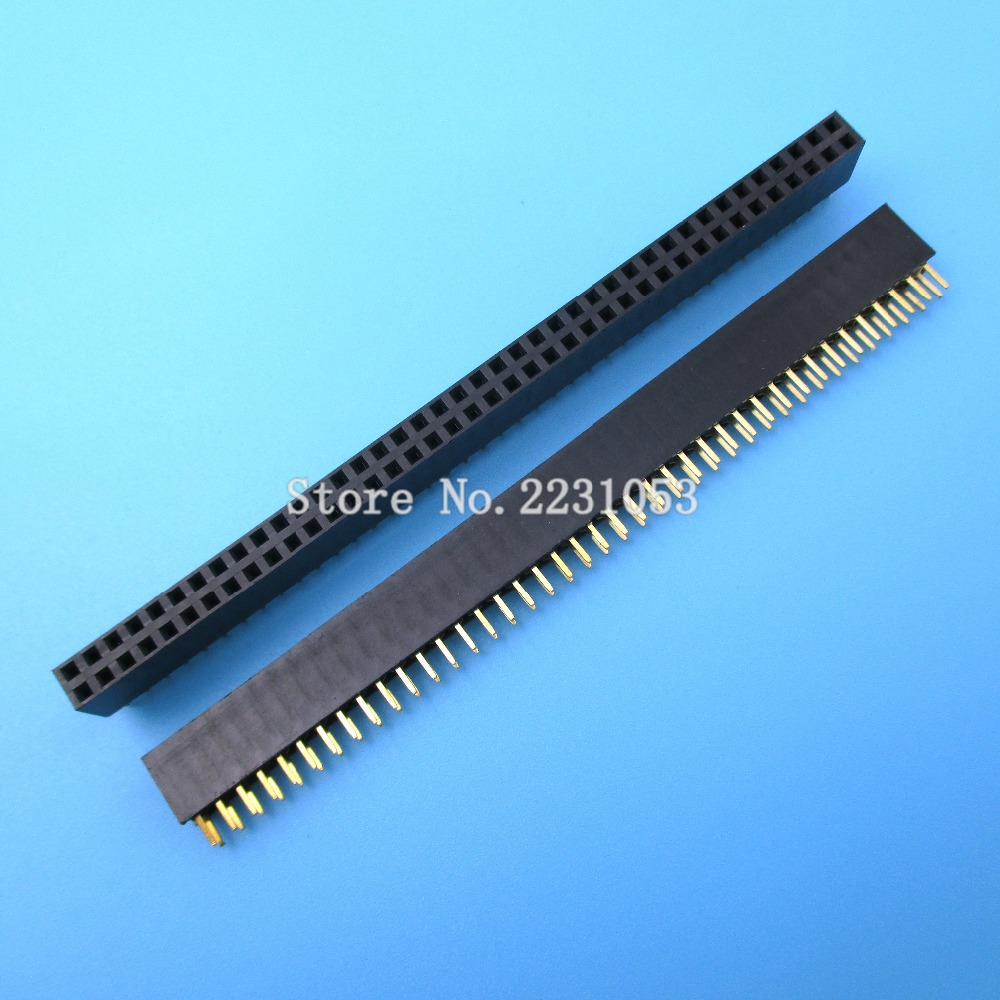 5PCS/LOT 2.54mm 2 X 40 Pin Double Row Pin Female Pin In Header Strip