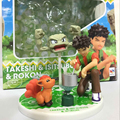 Pocket Monster Toys Brock+Geodude+Vulpix Action Figure Sets Anime Figures Vinyl Doll Kids Toys Boys Birthday Gift