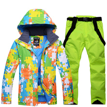 man Snow Clothing Girl snowboarding jackets Waterproof Warm thick warm winter outdoor ski suit sets jackets + pants costume