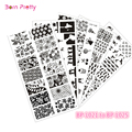 5Pcs BORN PRETTY BPL021-025 Nail Art Stamp Template Image Plates