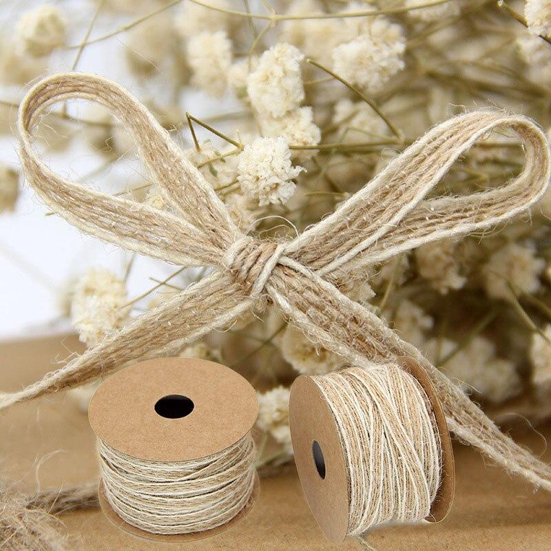 Crafts  Wedding Decorative Rustic Vintage Jute Burlap Ribbon Gift Packing