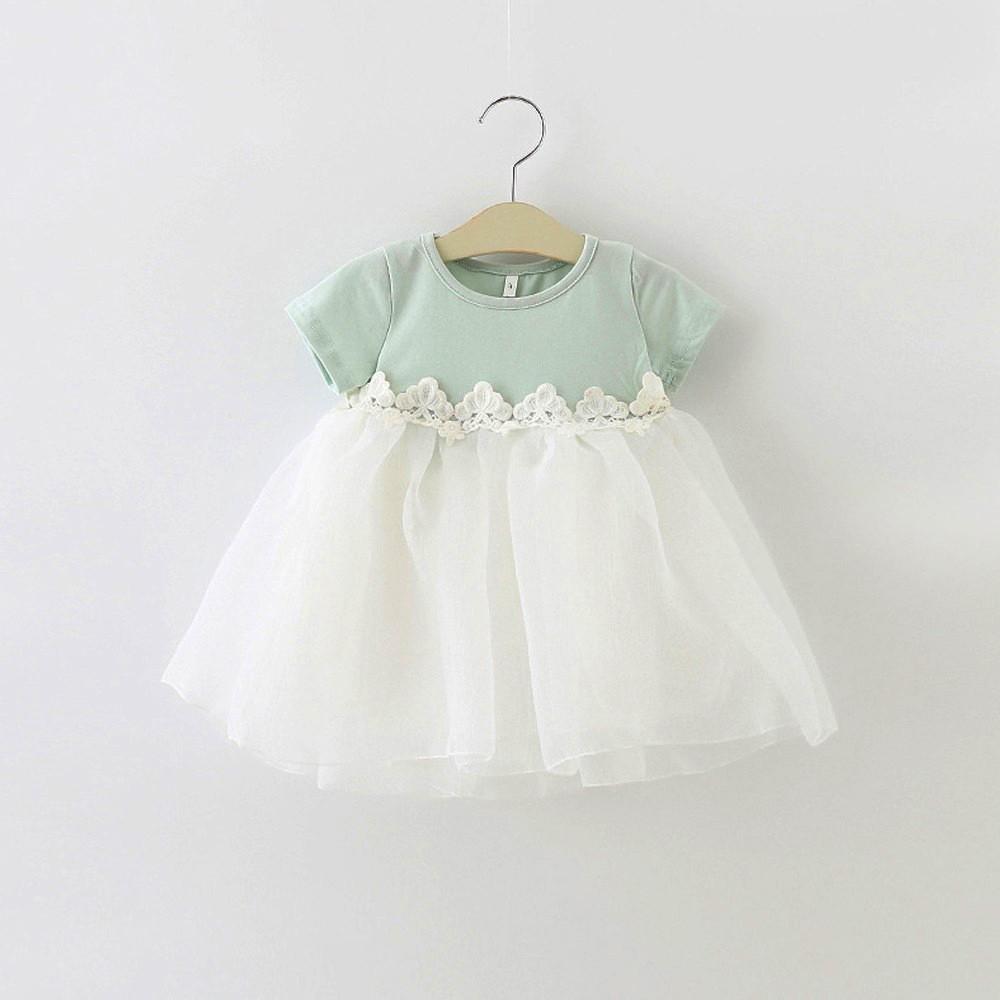 HE Hello Enjoy Baby Girl Dress 1 year birthday dress lace infant baptism vestido infantil bowknot princess wedding dress 5