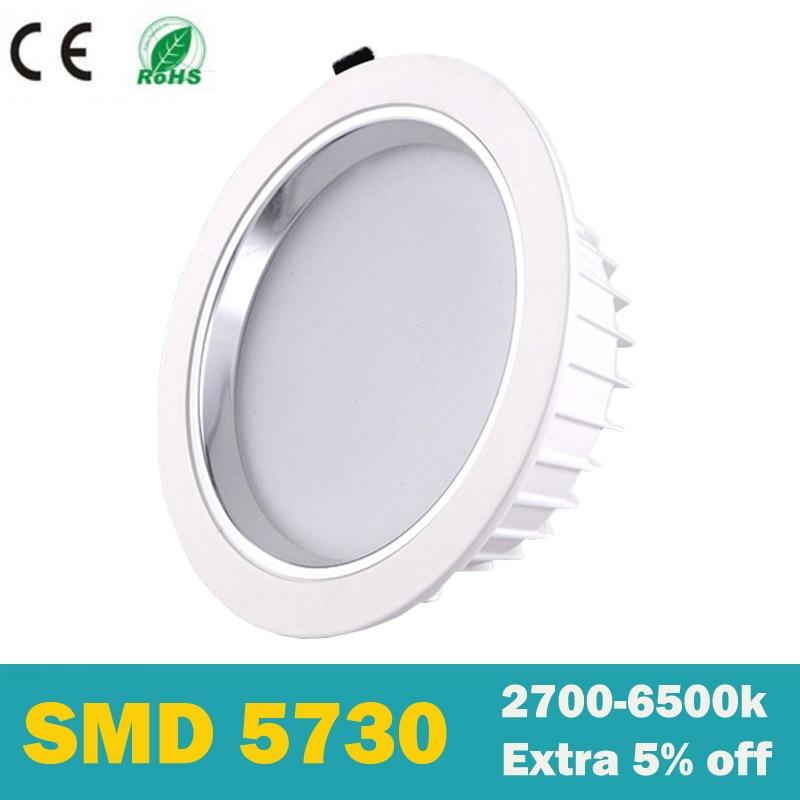 wit lichaam 2018 lampada Hoogwaardige ultra helderheid led downlight ronde kroonluchter dimbaar 110v-265v 5W 7W 10W 15W 30w 60w