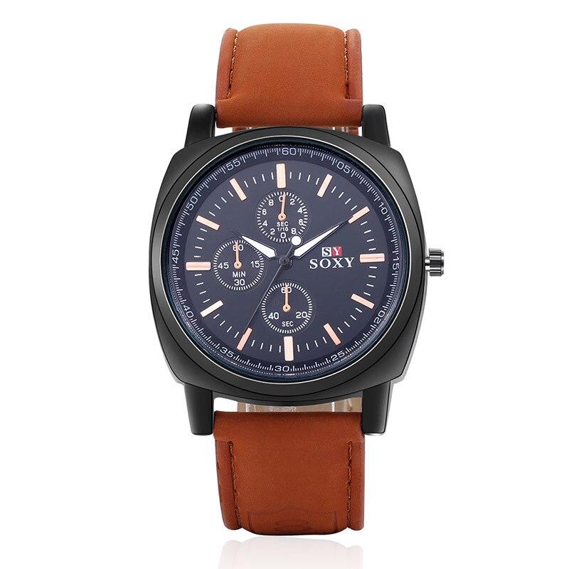 wysokiej jakości zegarki męskie męskie Wrist Watch Quartz - Męskie zegarki - Zdjęcie 3