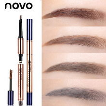 NOVO 3 In 1 Eye Care Waterproof Eyebrow Pomade and Eye Brow Bar and Dyeing Eyebrow Cream for Beauty Face Brand Makeup sourcils