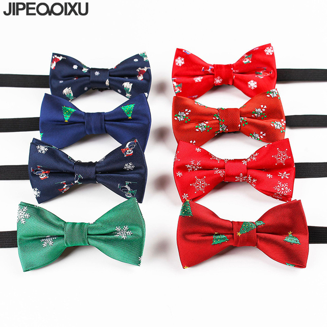 341799036863 Kids Christmas Bow Tie Boys Fashion Cartoon Bowtie Festival Santa Claus  Snowflake Bow Ties Children Gift Party Accessories