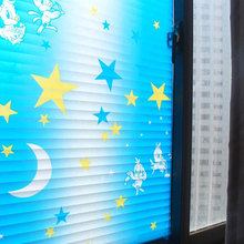Stained Privacy Window film sticker bird Opaque blue blinds Glass Sticker kids room self-adhesive Home Decorative 60x200cm