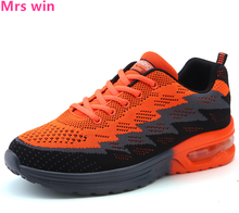Spring and Autumn Men and Women Air Running Shoes Outdoor Air Mesh Sneakers Flyknit Non-slip Lightweight Trainer Shoes