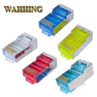 Conector rj45 cat6 rj45 blindadas plugues rede gato 6 conector terminais ethernet cabo plug colorido hy1527 ethernet cable plug -