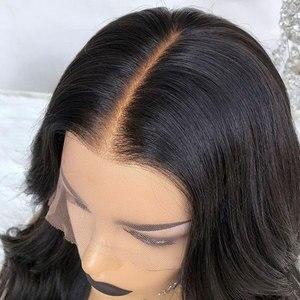 Image 2 - Накладные волосы на голову, невидимые, 13х6, кружевные, фронтальные, короткие, тупые, прямые, индийские, Remy, предварительно выщипывающиеся, отбеленные