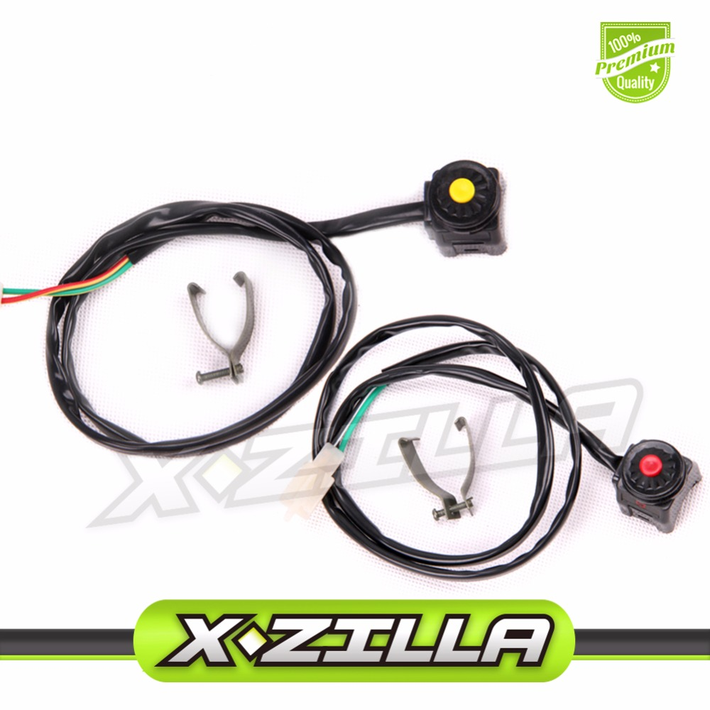1 PC Kill Switc`h + 1 PC Start Switch for Motorcycle ATV Dirt bike Stop Switch Horn Button
