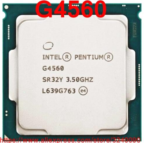 Original Intel CPU Pentium G4560 Processor 3 50GHz 3M Dual Core Socket 1151 free shipping speedy