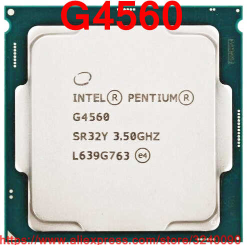Original Intel CPU Pentium G4560 Processor 3.50GHz 3M Dual-Core Socket 1151 free shipping speedy ship out