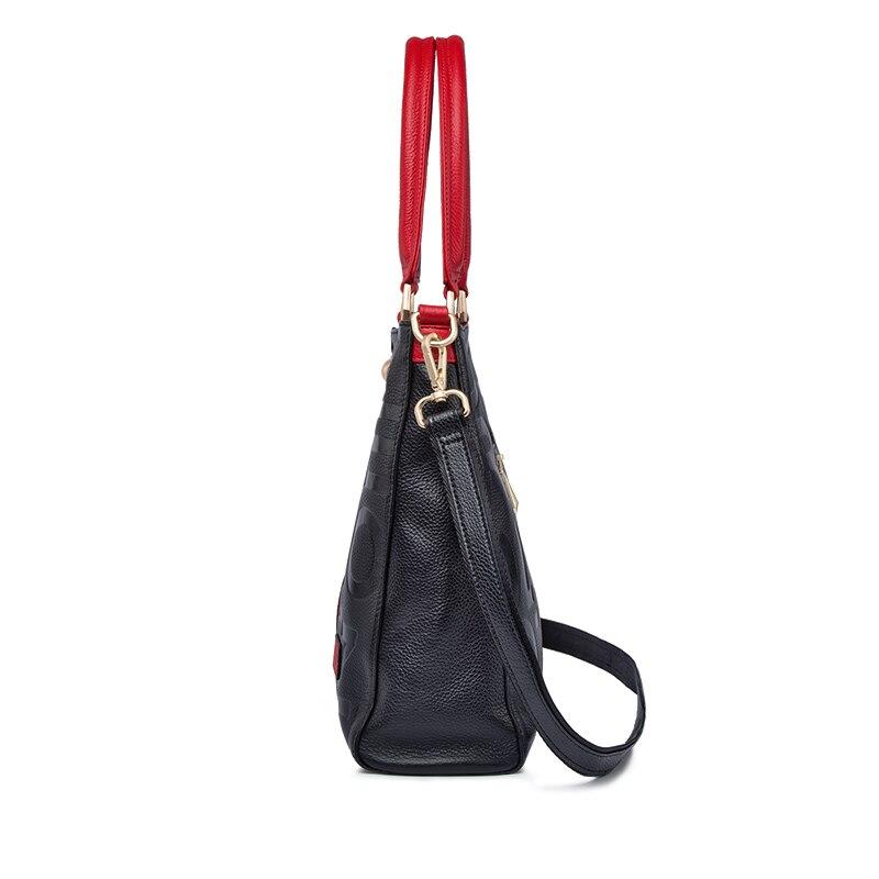 ZOOLER 2019 sacs à main de luxe femme sacs Designer sac en cuir véritable femmes sac à main en cuir de vache de haute qualité Mochila Feminina-in Sacs à poignées supérieures from Baggages et sacs    3