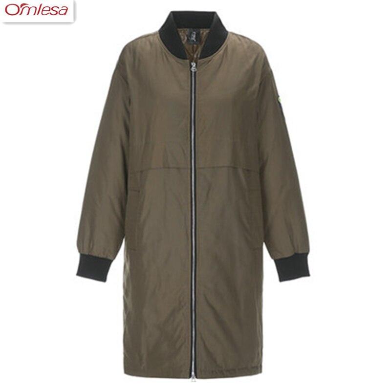 OMLESA 2017 Winter Womens New Fashion Down Jacket Ladies Warm Long Jacket Womens Casual Slim Wear Jacket za425