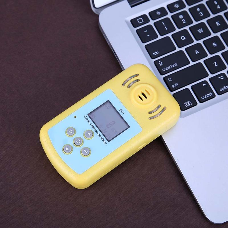 0 ~ 2000ppm CO Gas Meter Detector Carbon Monoxide Measurement Alarm Detector with LCD Display Sound/Light/Vibration Alarm