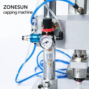 Image 2 - ZONESUN Pneumatic Oral Liquid Solution Penicillin Bottle Capper Aluminum Metal Plastic Vial Crimper Capping Machines