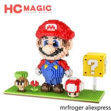 HC MAGIC 1030 Diamond Mini Character Anime Action Figures University Building Blocks Children Gifts DIY Toys Birthday Assembly(China)