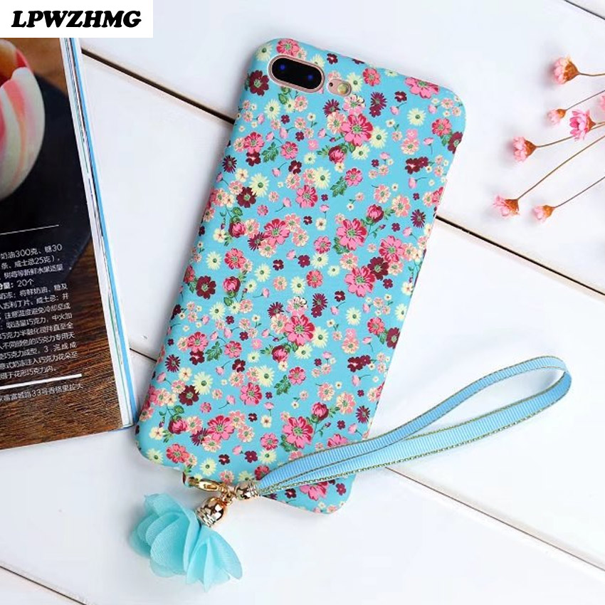 Cover For Apple iPhone 7 Case Flower Colorful Luminous Hard Plastic Case Phone Shell Silicone Back Cover Cases For iPhone 7 Plus
