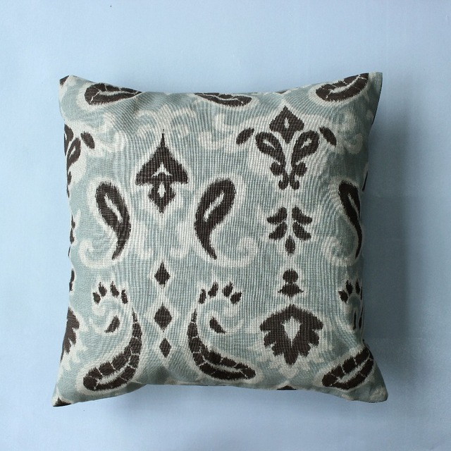 VEZO HOME Print Vintage Paisley Linen Large Cushion Cover Sofa Throw Pillows  Cover Home Decorative Large