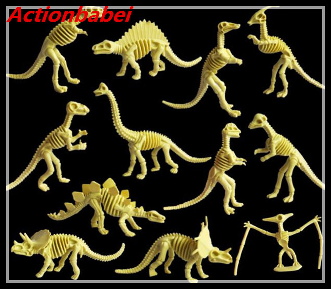 Actionbabei Animal Archeology Dinosaur Fossil Dinosaur Bones Dinosaur Skeleton Model Bone Toys Environmental Protection Material Attractive Appearance Action & Toy Figures