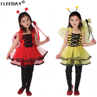 Retail Children Girls Halloween Party Dress Girl Performance Costume Kids Bee Cosplay Clothing Baby Christmas Vestido