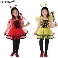Einzelhandel Kinder Mädchen Halloween Party Kleid Mädchen Leistung Kostüm Kinder Bee Cosplay Kleidung Baby Vestido for3-8year