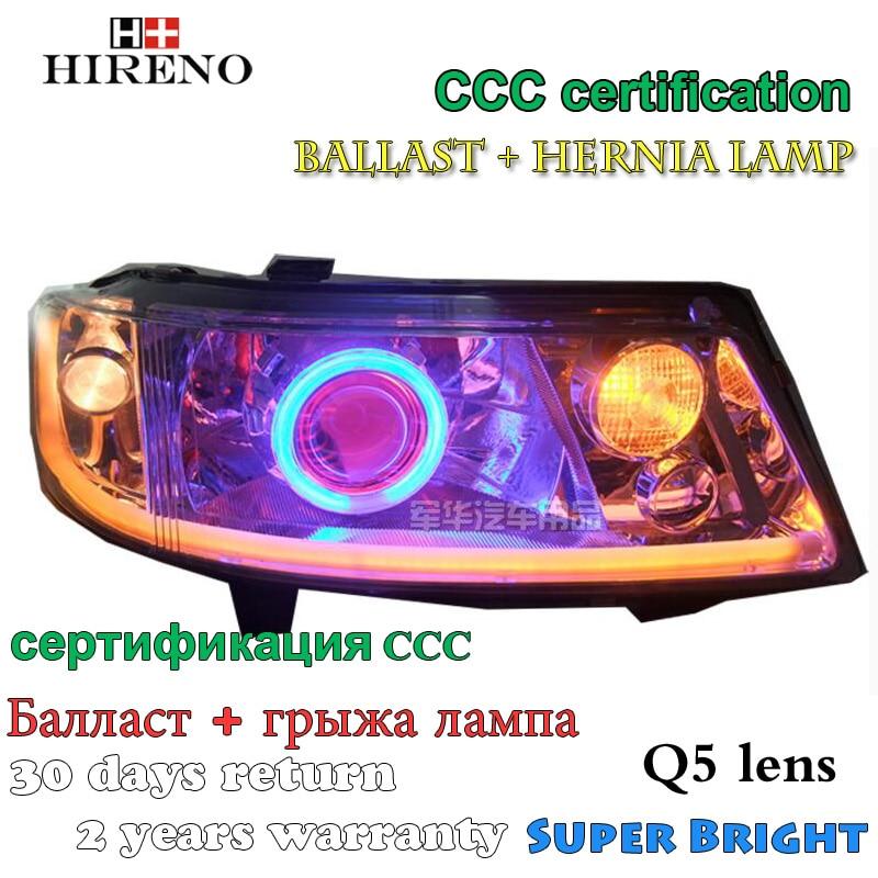 Hireno Modified Headlamp for Volkswagen Jetta 2004-2009 Headlight Assembly Car styling Angel Lens Beam HID Xenon 2 pcs