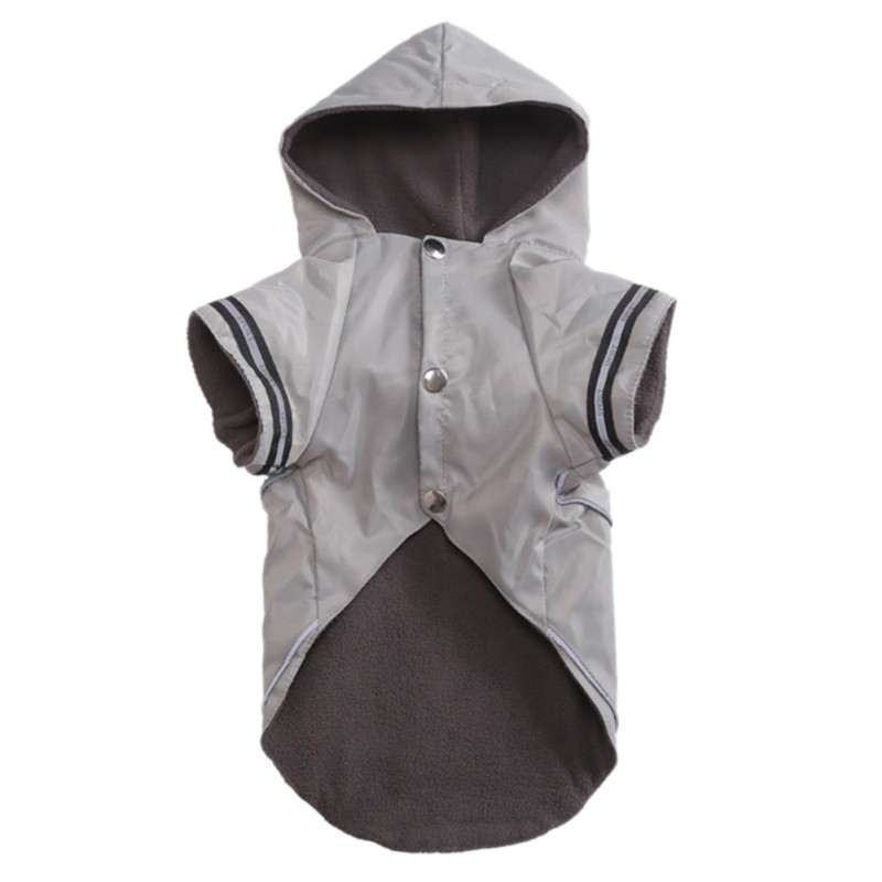 Pet Dogs Two Legs Costume With Cashmere Inner For Rain Days Puppy Windproof And Waterproof Raincoat Dog Gifts