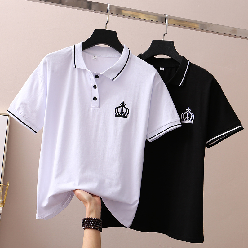 2019 Sommer Mode Polo Hemd Frauen Neue Casual Kurzarm Bestickt Lose Polos Shirts Tops Weibliche Baumwolle Polo-shirt GroßEr Ausverkauf