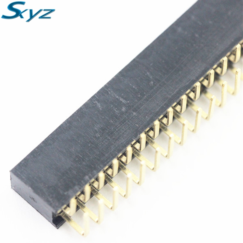 5pcs 80 Pin 2x40 Double Row Female 2.54mm Breakable Pin Header Right Angle 5pcs pitch 2 54mm 80 pin 2x40 double row male breakable pin header connector strip for arduino black