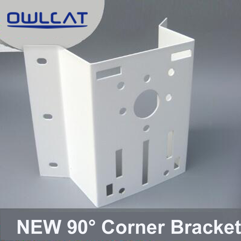 NEW Outdoor External 90 degree Right Angle Corner Bracket Mounting For Hikvision CCTV PTZ IP Dome Camera Max Load-bearing 30KG ned 65x65x20mm practical stainless steel corner brackets joint fastening right angle 2 5mm thickened bracket with screws