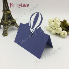 50pcs Laser Cut Balloon Table Name Cards Place Cards Paper Wedding Party Table Decoration Baby Shower Wedding Favors Decoration 120pcs lot laser cut humming bird shaped table name place card escort card wine glass card wedding baby shower decoration wd108