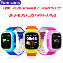 Q90 Pantalla Táctil GPS WIFI Reloj Inteligente Niño SOS Localizador dispositivo de Seguimiento de Niños Seguro Anti Perdido Monitor Smartwatch PK Q80 Q50
