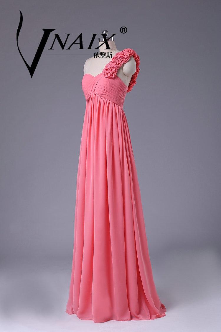 BF1 Rosa Caramelo Largo Real Fotos Vestidos de dama de Honor 2016 de ...