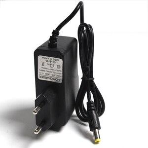 Image 4 - Cargador de batería de litio con enchufe europeo, 12,6 V, 1A, 12,6 V, Cargador/adaptador de corriente con cable de plomo, DC 5,5*2,1 MM