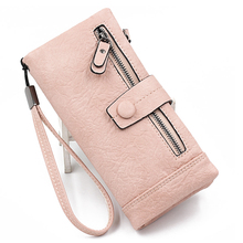 Women Wallet Female Purse Leather Long Wristlet Zipper Women Clutch Bag Phone Bag Female Large Capacity Card Holder Coins Purse недорго, оригинальная цена