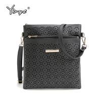 YBYT Brand 2017 New PU Leather Women Hollow Out Flap Vintage Package Simple Casual Bag Ladies