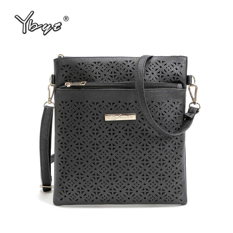 YBYT brand 2017 new PU leather women hollow out flap vintage package simple casual bag ladies shoulder messenger crossbody bags new fashion women retro hollow out tassel messenger bag ladies elegant pu leather shoulder bag female vintage crossbody bagdec30