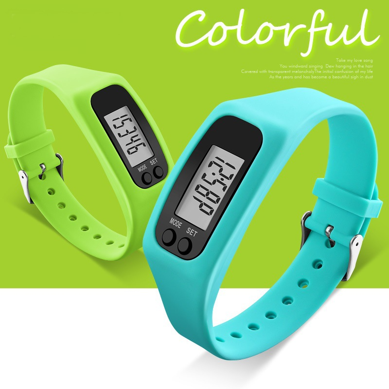 Men Women LED Sports Watch Silicone Digital Clock Pedometer Run Step Walking Distance Calorie Counter Watch Reloj Hombre