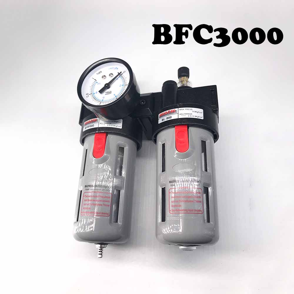 BFC3000 3/8 Air Filter Regulator Combination Lubricator ,BFR3000 + BL3000 ,FRL Two Union Treatment Free Shipping BFC3000 3/8 Air Filter Regulator Combination Lubricator ,BFR3000 + BL3000 ,FRL Two Union Treatment Free Shipping
