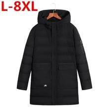 Plus size  8XL7XL 6XL 5XL 4XL Brand Casual Parka Winter Jacket Men Coat Warm 2017 New Arrival Multi Pocket big large size